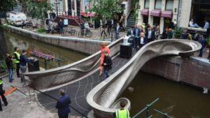 World's 1st 3D-Printed Steel Bridge In Amsterdam