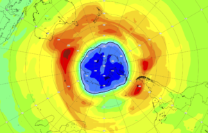 Big S. Pole Ozone Hole Grows